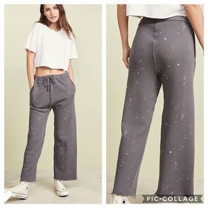 NWT Free People Sideline Print Flare Sweatpants
